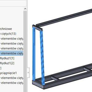 Sortowanie podobnych członów konstrukcyjnych do jednego folderu