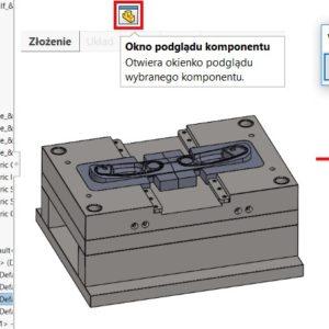 Okno podglądu komponentu w złożeniach SOLIDWORKS