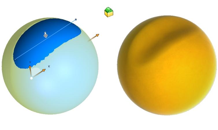 Deformacja punktowa z osią deformacji