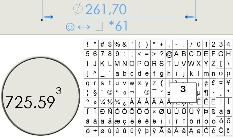 Symbole i znaki specjalne w wymiarowaniu oraz notatkach
