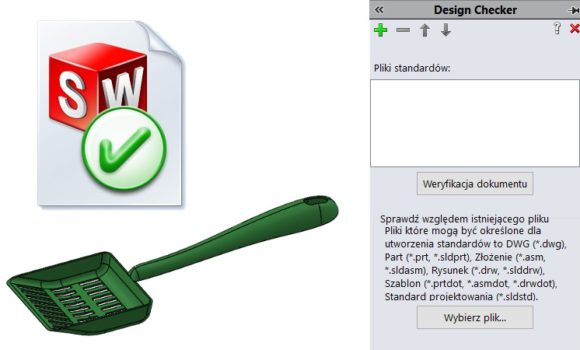 Design Checker sprawdzi dostosowane właściwości