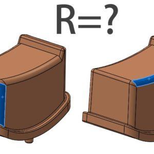 Jak sprawdzić wartość promienia w pliku bez historii?