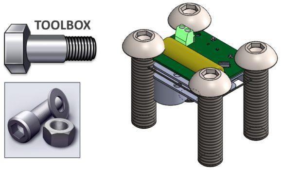Dlaczego śruby z Toolbox'a zmieniają rozmiary?
