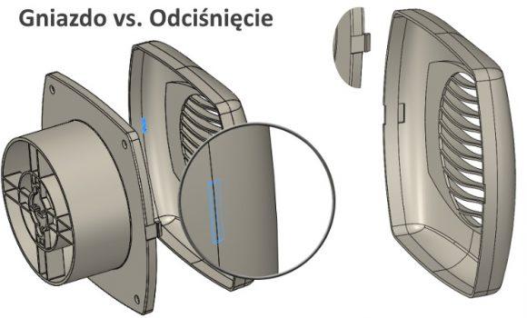 Odciśnięcie vs. Gniazdo – dwie zbliżone operacje SOLIDWORKS