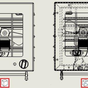 Pokaż ukryte krawędzie poprawia czytelność w rysunkach