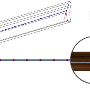 Geometryczny podział szkicu na równe segmenty