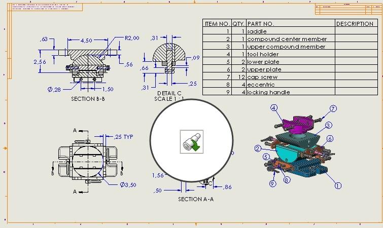 Otwieranie modelu w pozycji ze złożenia lub rysunku