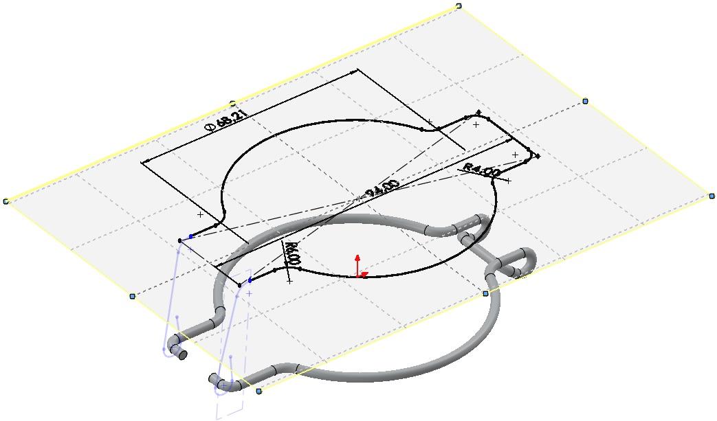 płaszczyzna w szkicu 3D