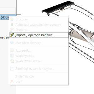 Importowanie operacji badań Simulation do złożeń