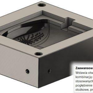 Zaawansowany otwór w projektowaniu form wtryskowych