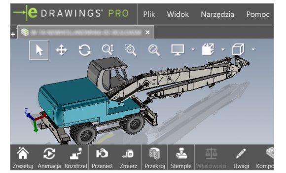 eDrawings jako darmowa przeglądarka otwiera także STEP i IGES