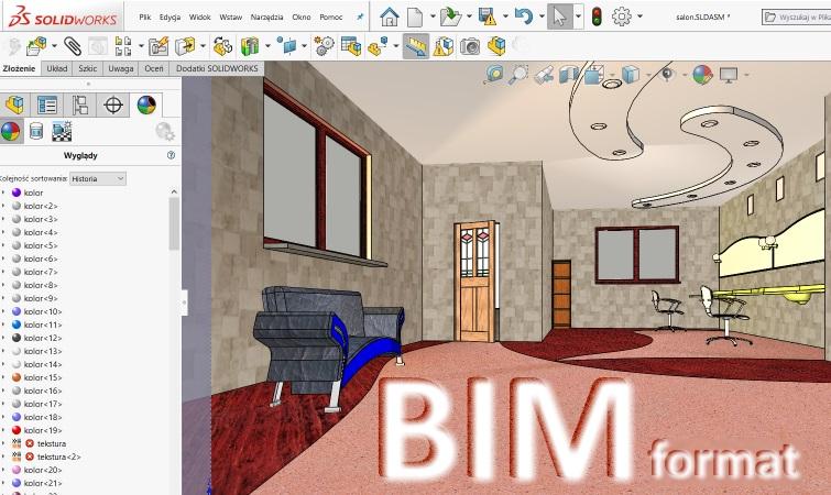 Modele 3D z parametrami w formacie BIM *.ifc lub *.rfa/rvt