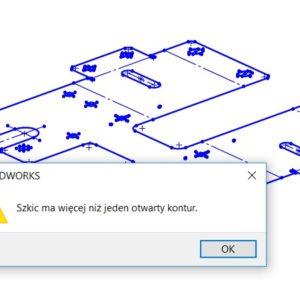Sprawdź szkic dla operacji – szybko znajdziesz problem w DXF!