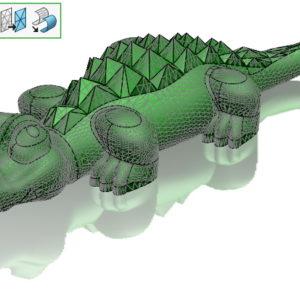 Redukuj obiekt siatkowy pozwala zmniejszać pliki stl przed wydrukiem 3D