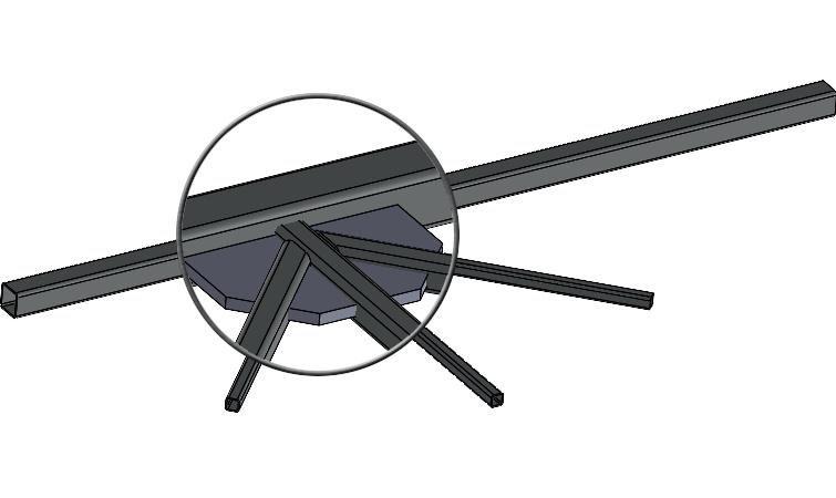 Przycinanie profili konstrukcji spawanej do blachy węzłowej