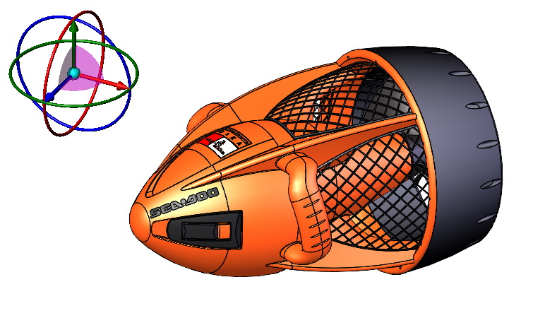 Obracanie modeli z użyciem klawiszy względem triady 3D