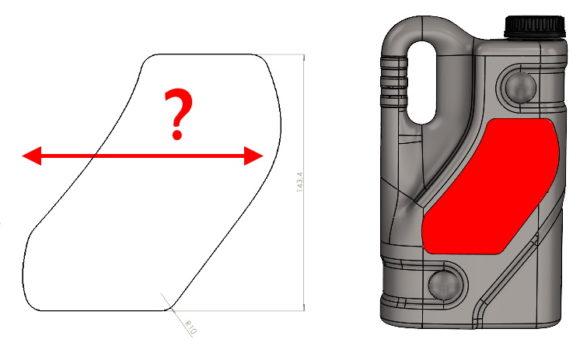 Jak w szybki sposób zwymiarować na rysunku nieregularny kształt?
