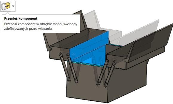 Wykrywanie kolizji w operacji Przenieś komponent