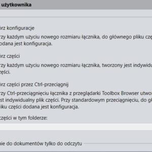 Tworzenie indywidualnego pliku Toolbox zamiast konfiguracji
