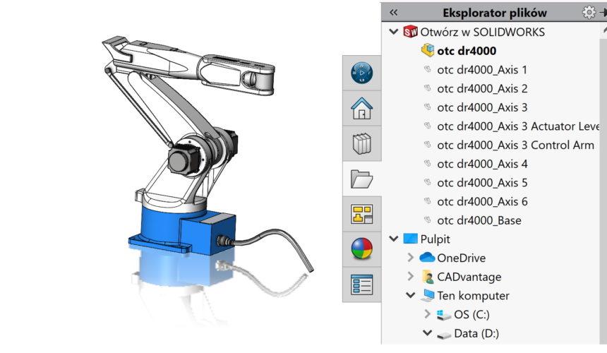 Znajdź w Mój komputer – w jednej chwili ustalisz, skąd pochodzi plik złożenia
